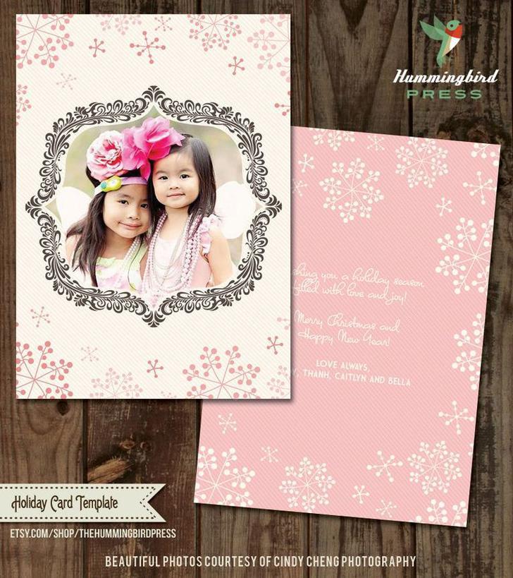 Invitation Christmas Card Template SD Design