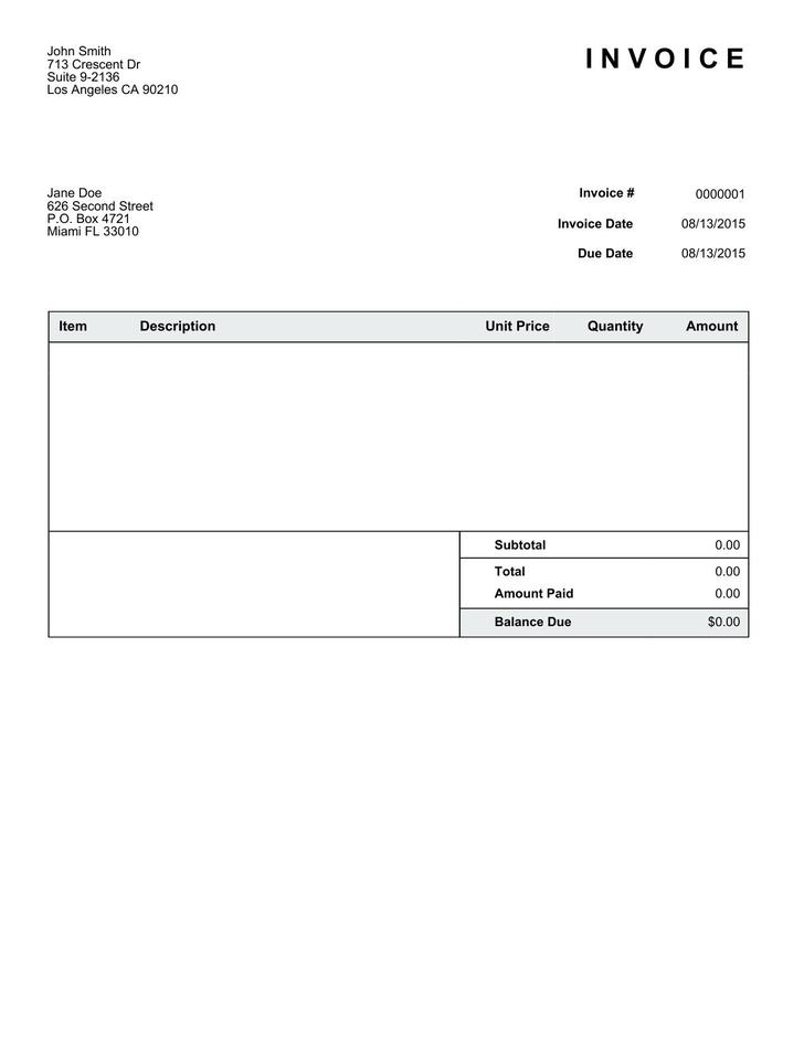Simple Receipt Template