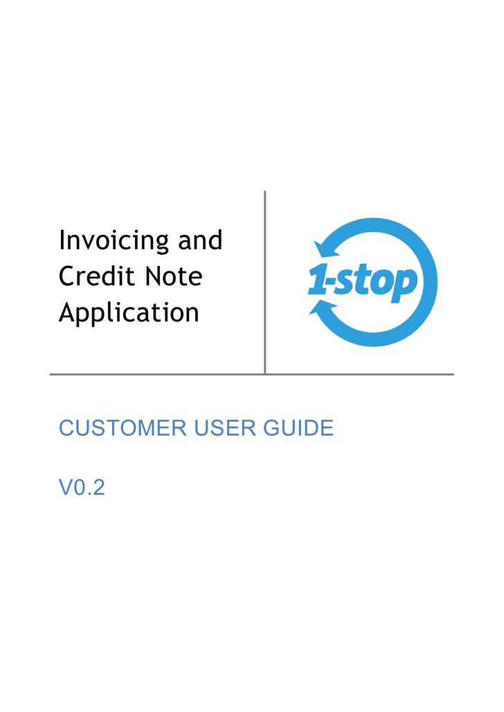 Invoicing and Credit Note Application Template Free PDF
