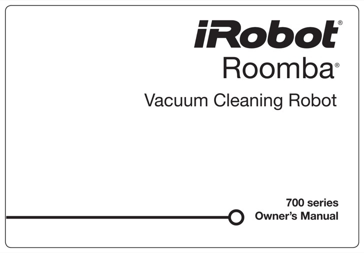 iRobot User's Manual Sample