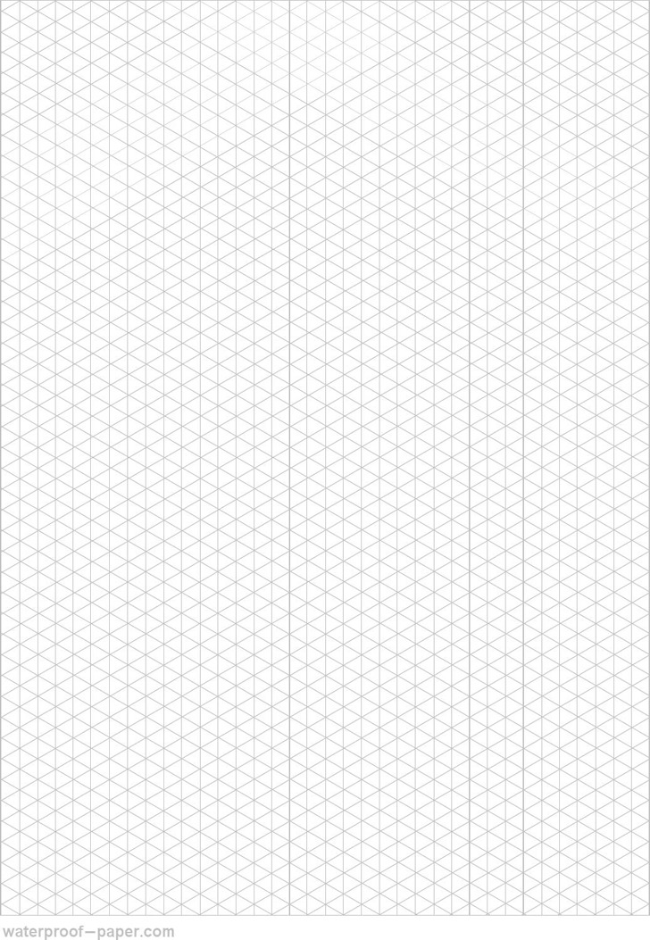 Isometric Graph Paper - Gray Vertical Triangle