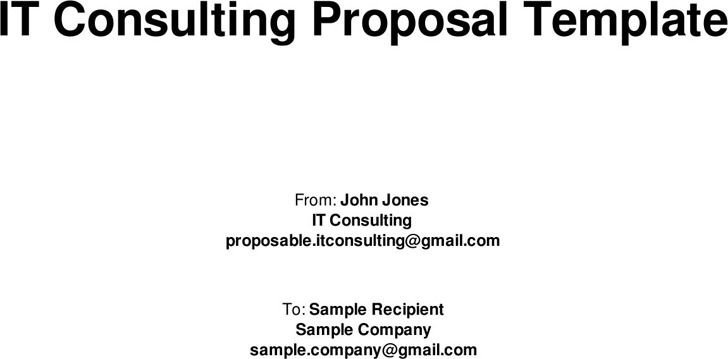 Consulting Proposal Template | Download Free & Premium Templates