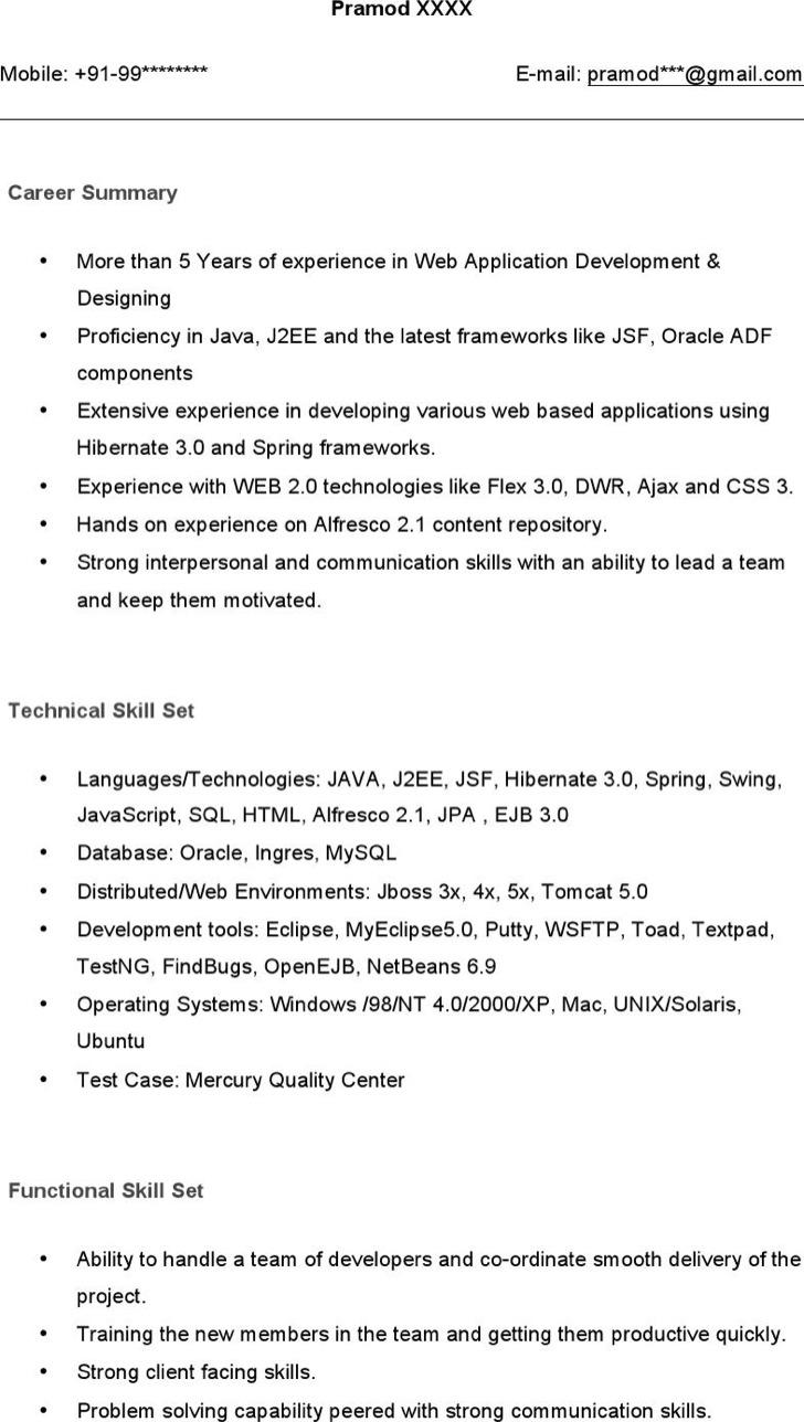 java resume example java resumes resume resume example java 1jpg senior java java developer resume example