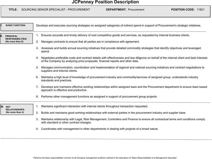 JCPenney Position Description