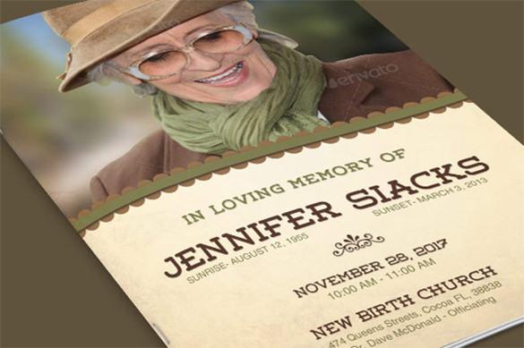 Jennifer Elegance Funeral Brochure Template