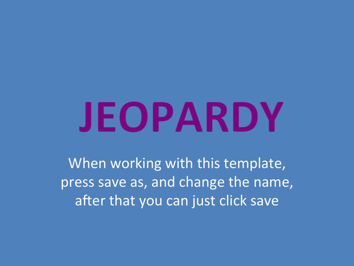 Blank Jeopardy Template  Download Free  Premium Templates Forms