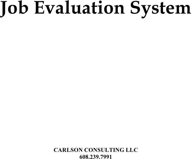 Job Evaluation Form 3