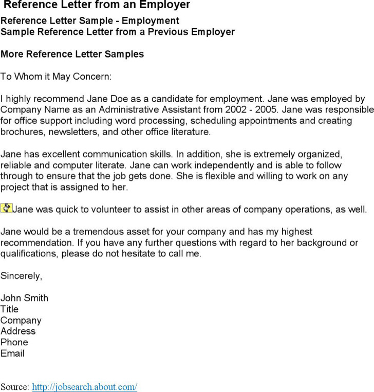 Job reference letter administrative assistant – Administrative Assistant Reference Letter