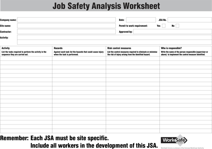 job safety analysis template download free premium templates forms samples for jpeg png. Black Bedroom Furniture Sets. Home Design Ideas