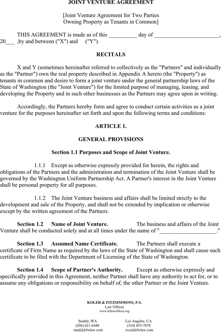 Joint Venture Agreement 2