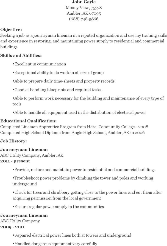 lineman resume best solutions of lineman apprentice sample resume for service journeyman lineman resume