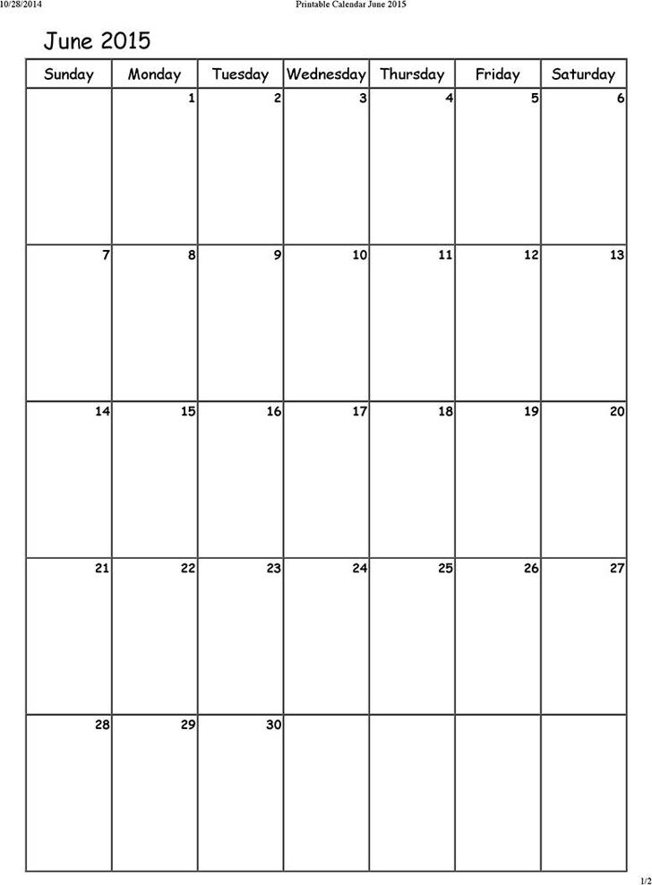 June 2015 Calendar 3