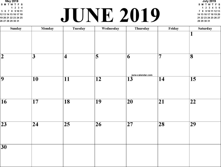 2019 June Calendar.3 June 2019 Calendar Free Download