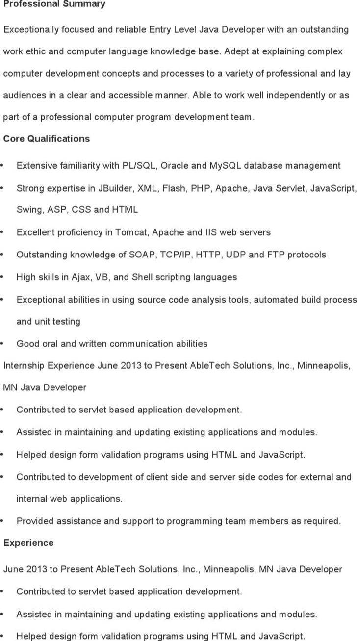 100+ [ Sample Resume For Experienced Pl Sql Developer ] | Sample ...