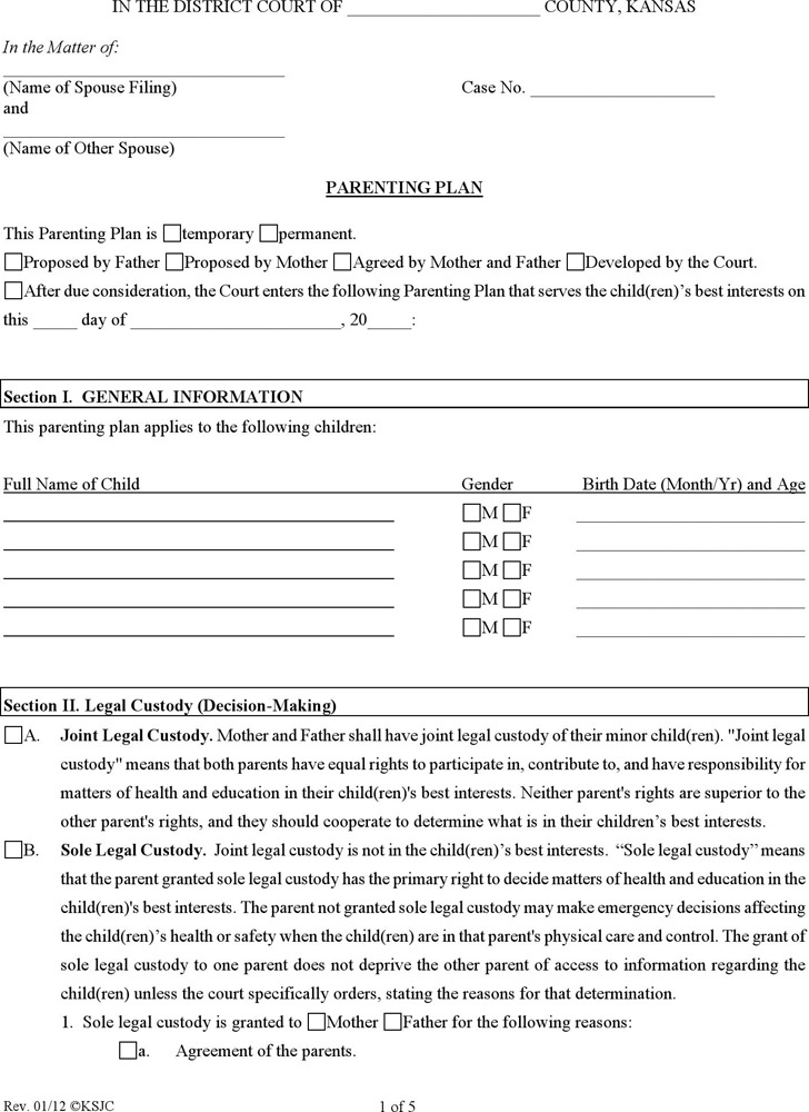 Kansas Divorce Papers  Download Free  Premium Templates Forms
