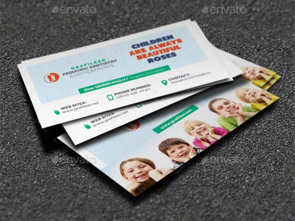 Kids Dental Business Card Template