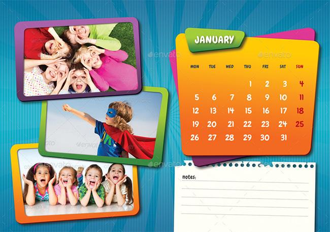 Kids Desk Calendar 2015