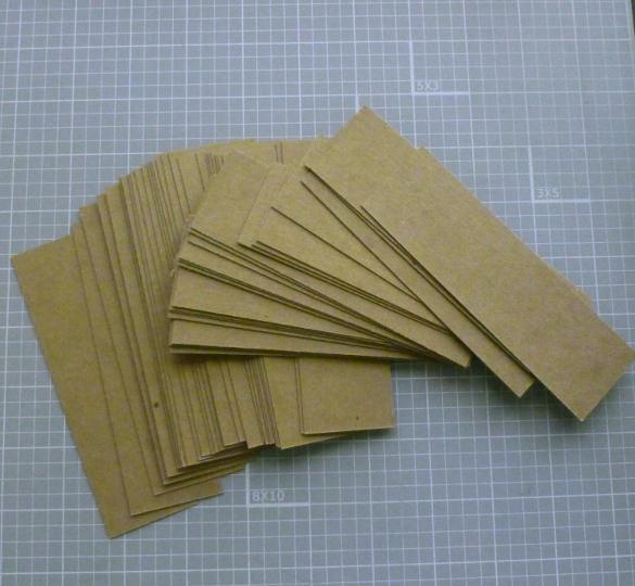 Kraft Blank Bookmark Templates