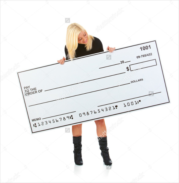 Large Blank Check