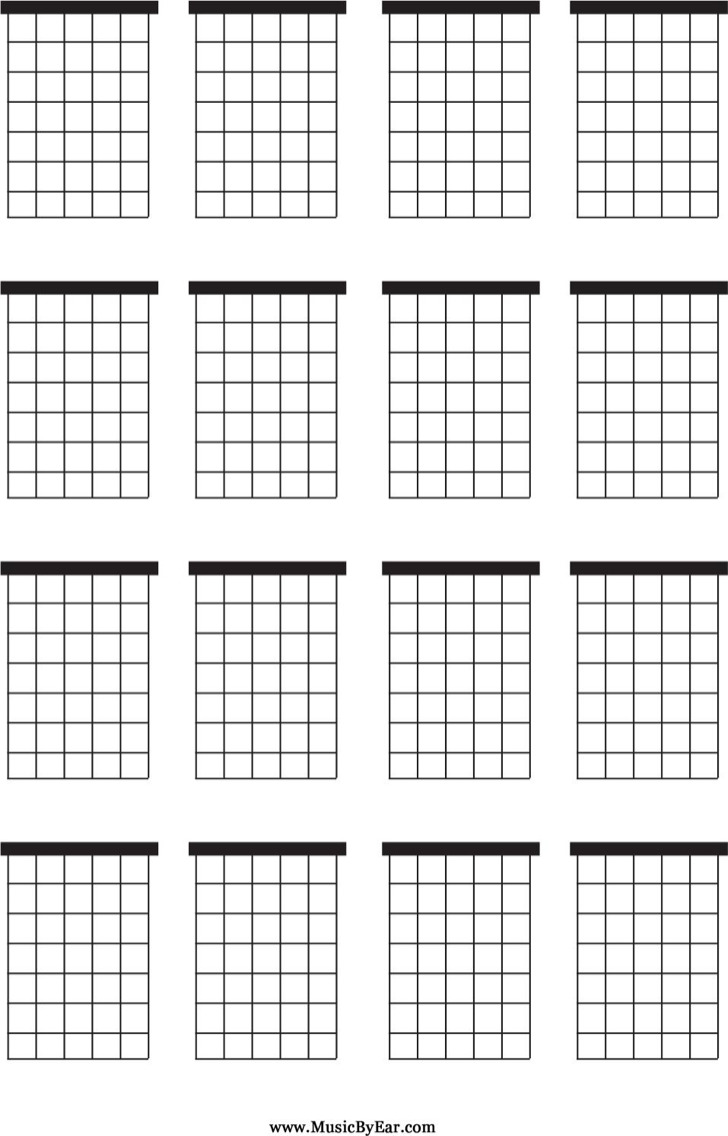 photo regarding Printable Guitar Chords Chart Pdf titled 5+ Blank Guitar Chord Charts Totally free Obtain