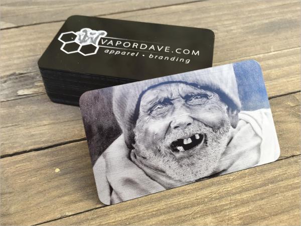Laser Cut Metal Business Card