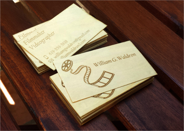 Laser Engraved Business Card Template
