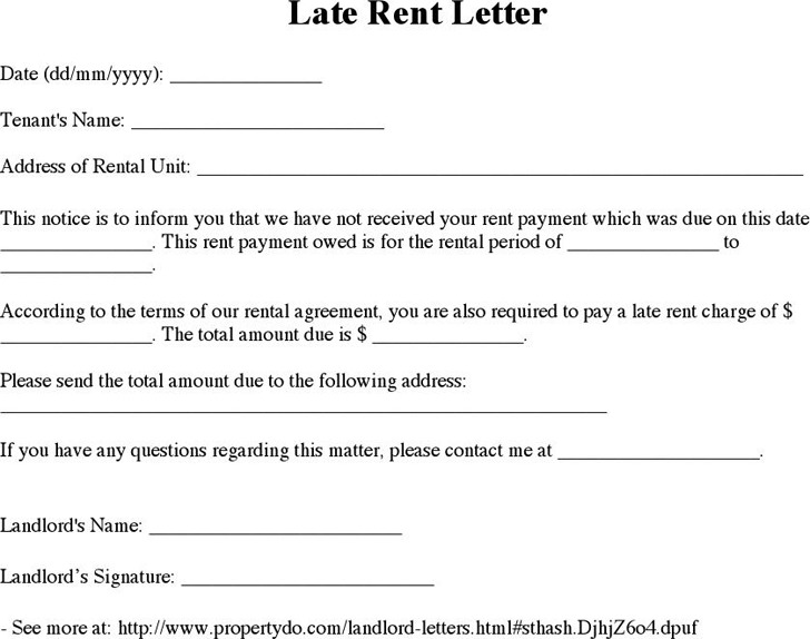 Late Rent Notice Template  Download Free  Premium Templates