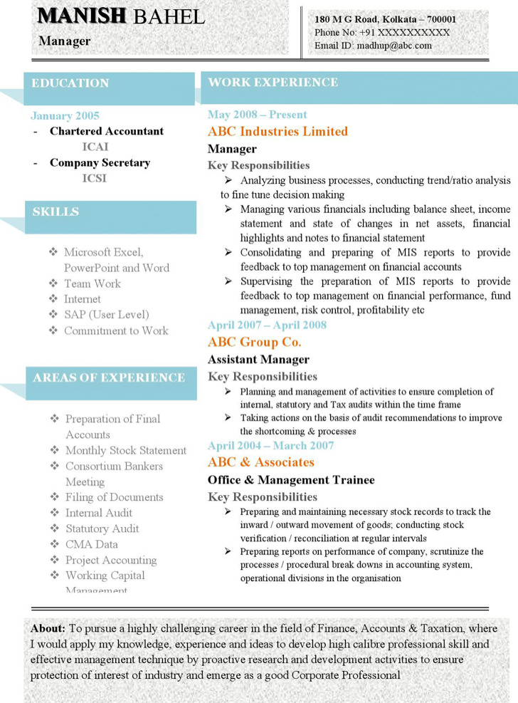 best resume formats download free premium templates