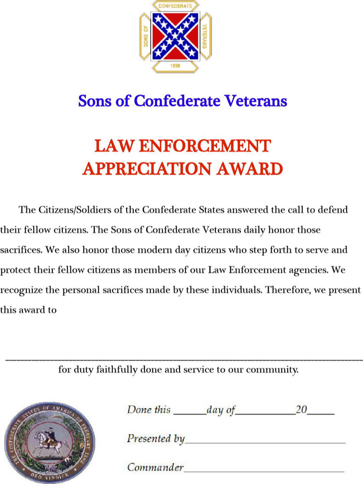 Law Enforcement Appreciation Award