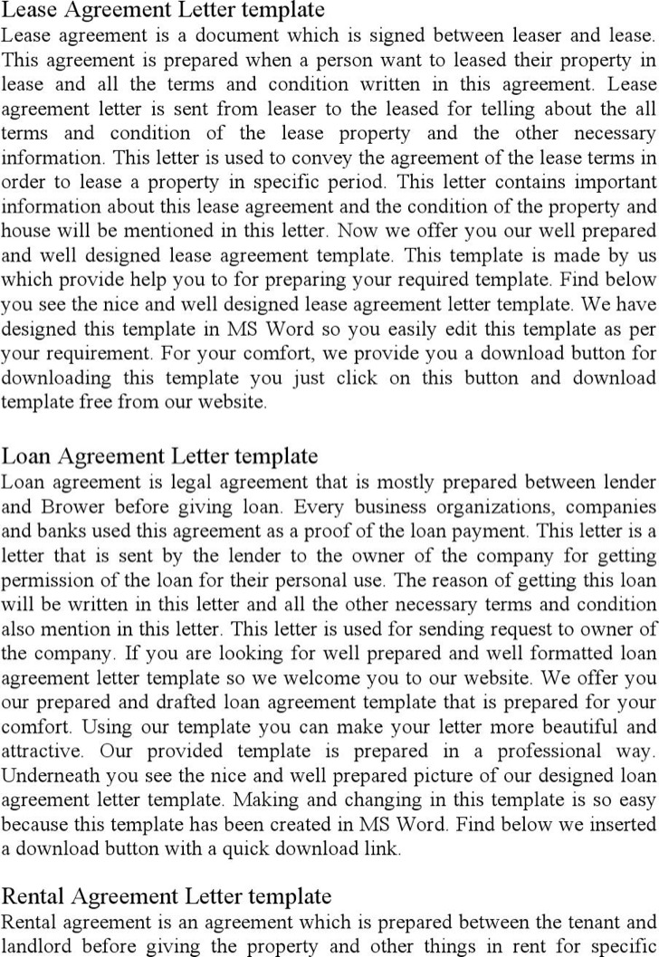 Room Rental Agreement Letter Pdf Download. Contract Termination