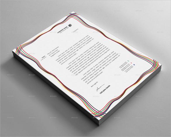 Letterhead Design Example Format