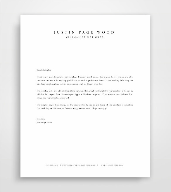 Letterhead Design Stationary Sample Template