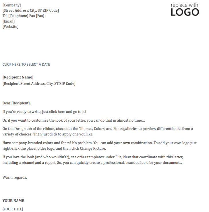Letterhead Template (Timeless Design)