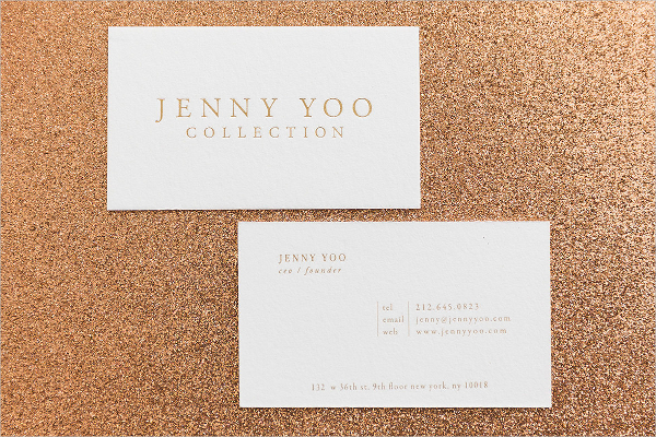 Letterpress Gold Foil Business Card