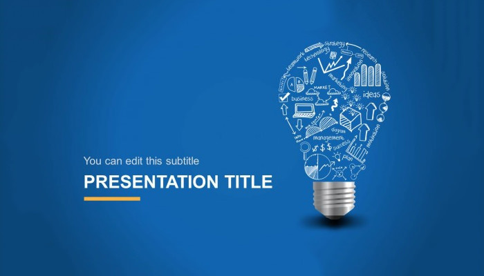 Light Bulb Idea Creative PowerPoint Template