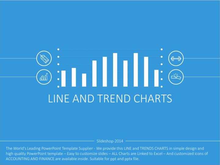 Line and Trends Excel Chart Template