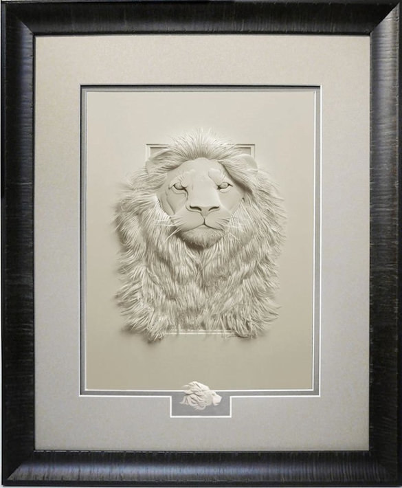 Lion Paper Art Design