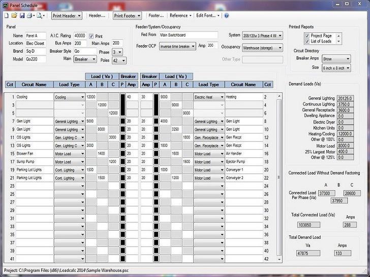 electrical panel schedule  | tidytemplates.com