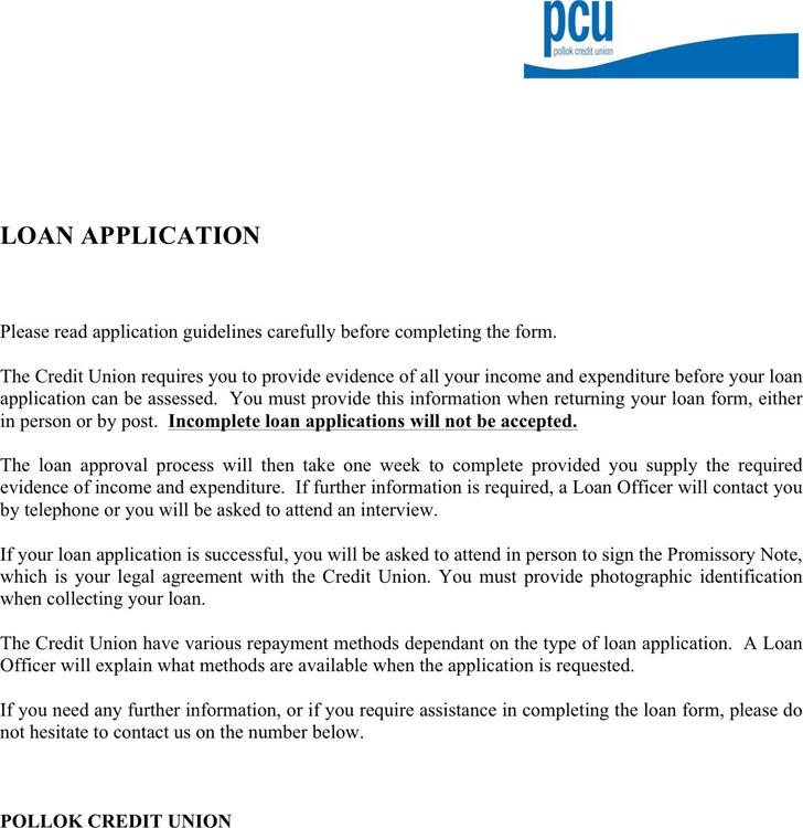 Loan Application Form 1