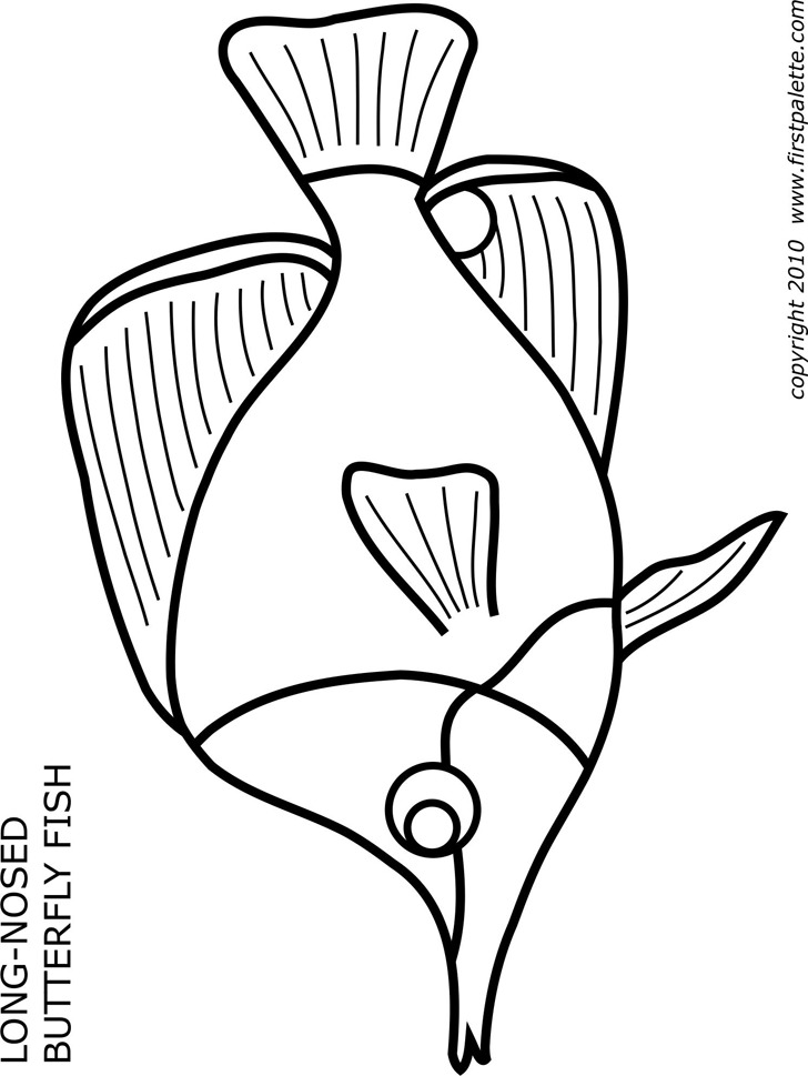 Long-Nosed Butterfly Fish Template