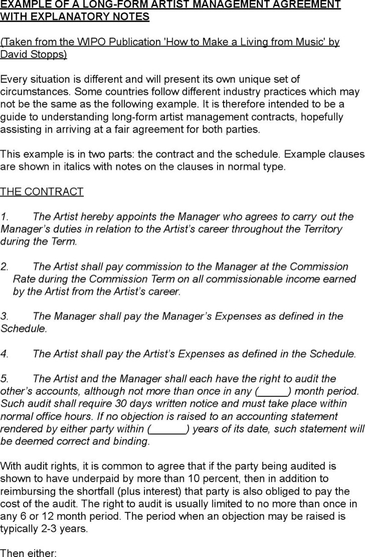 Contract Management Samples