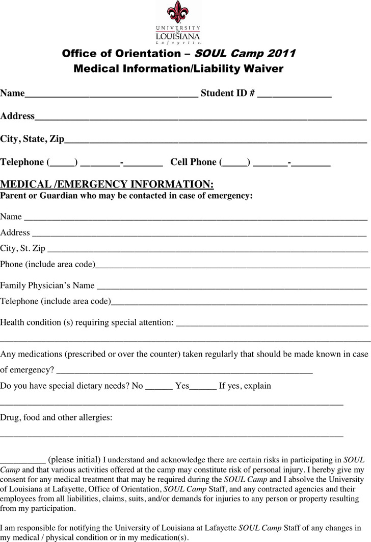 Louisiana Medical Release Form 1