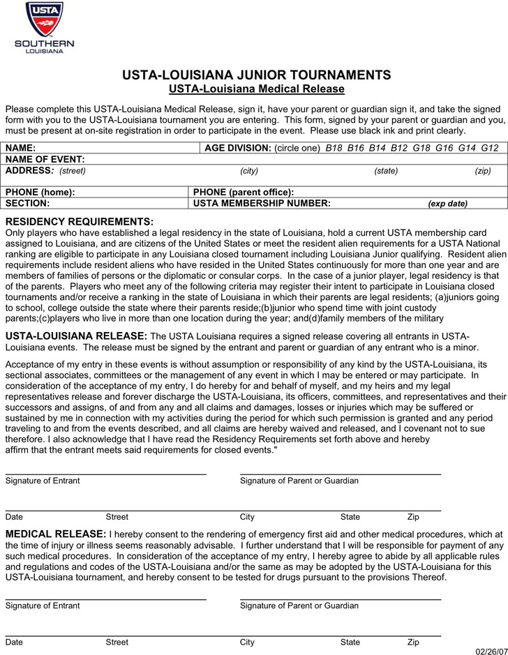 Louisiana Medical Release Form 2