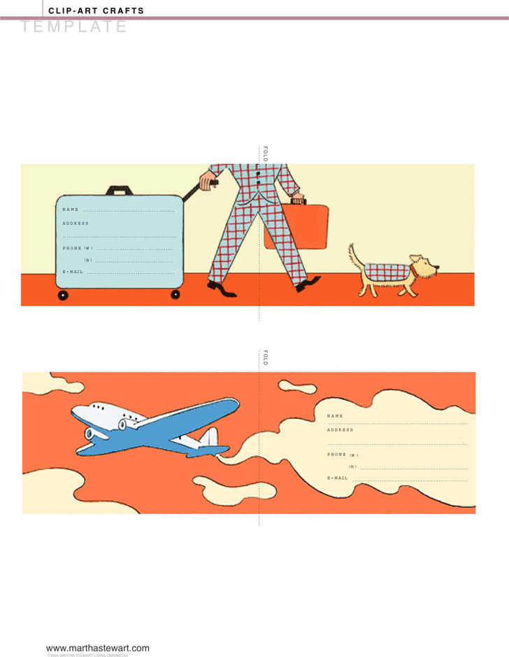 Luggage Tag Template 1