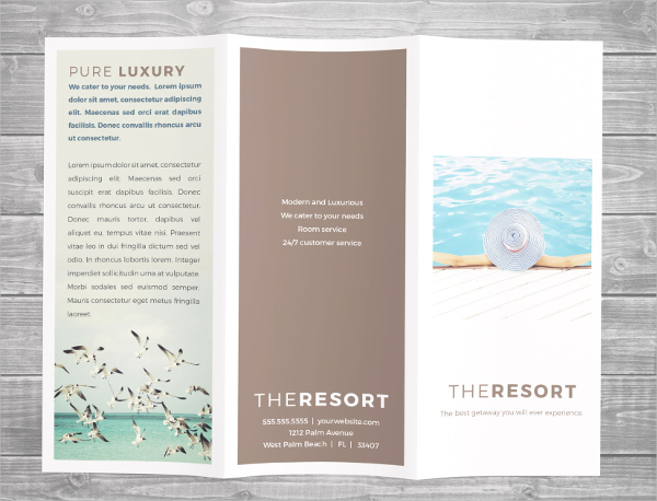 Resort brochure templates download free premium for Luxury brochure template