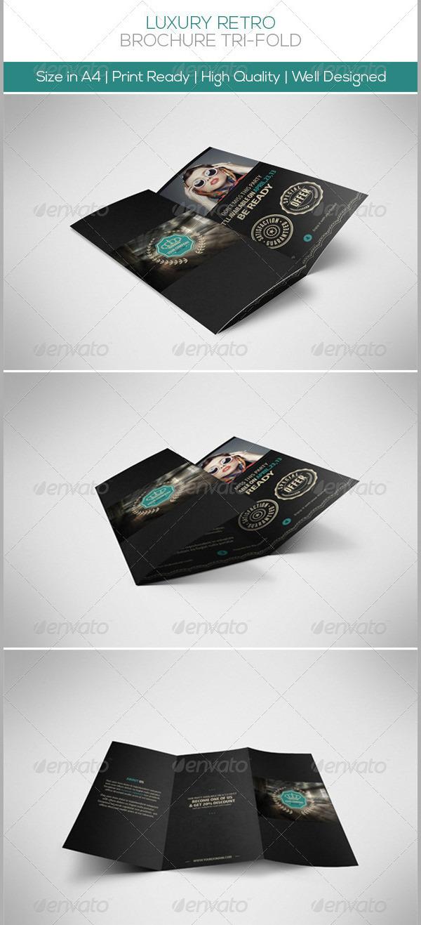 Luxury Retro Brochure Tri-fold