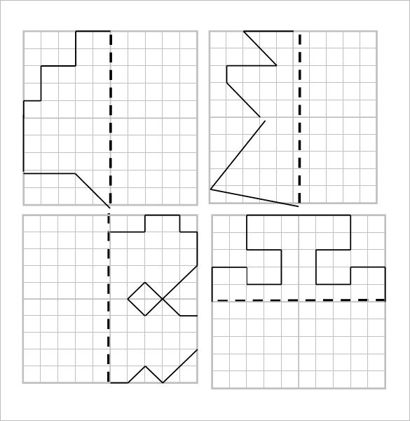 Lynne Outhwaite Reflective Symmetry Worksheet Template
