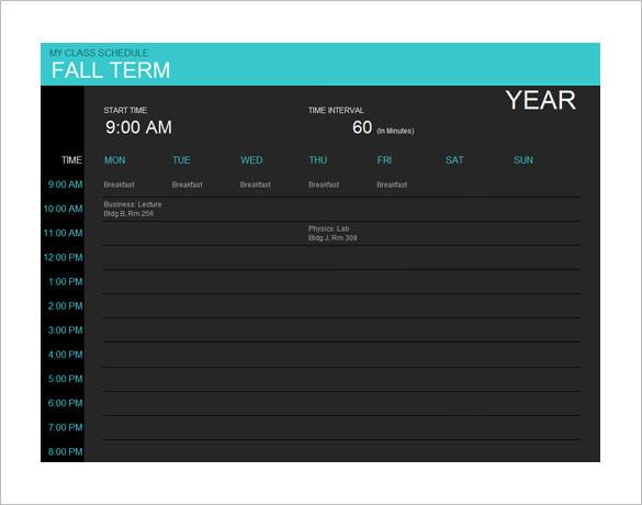 Mac Calendar Template MS Online
