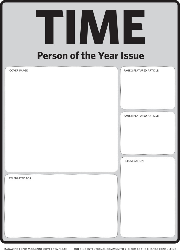 magazine cover template for word