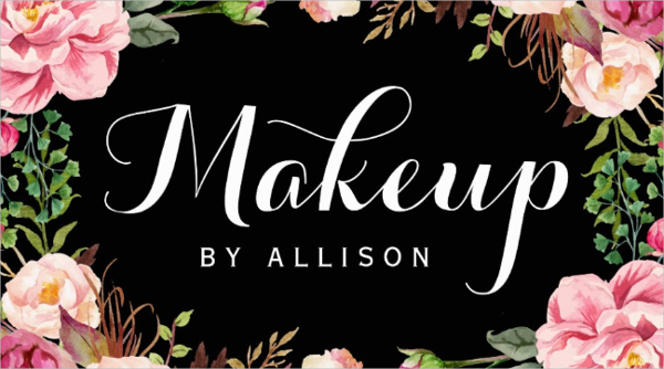 Makeup Artist Modern Script Business Card